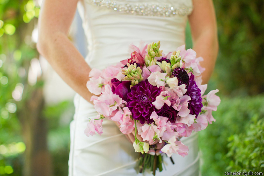 Dahlias and Sweet Peas
