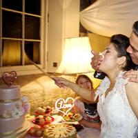 Bride and Groom's alternative cake cutting