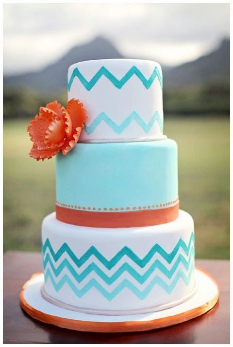 Chevron Wedding Cake