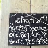 Cardboard Wedding Signs