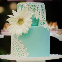 Lace Doilies Wedding Cake