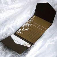 wedding invitations brown