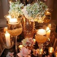 Mercury Glass and Beautiful Blossoms