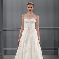 Textured Rosette Wedding Dresses