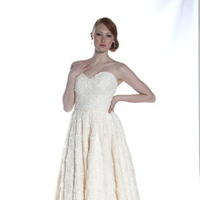 Textured Rosette Wedding Dresses