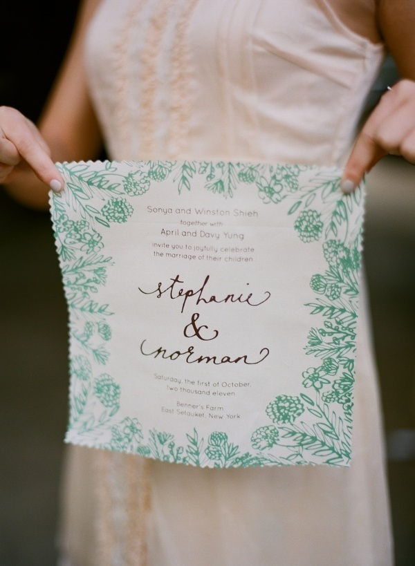 Handkerchief Wedding Invitations