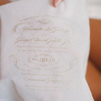 Handkerchief Wedding Invitation
