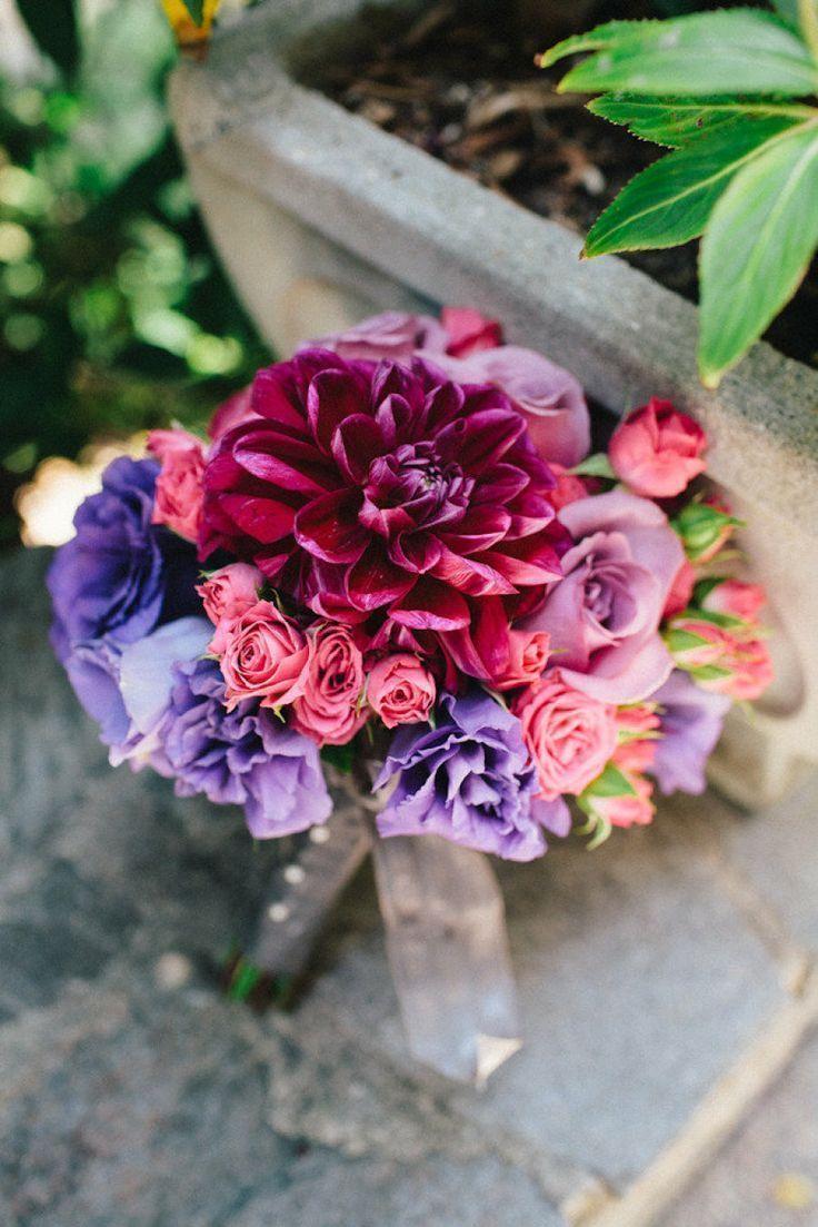 Dahlia and Rose Bouquet