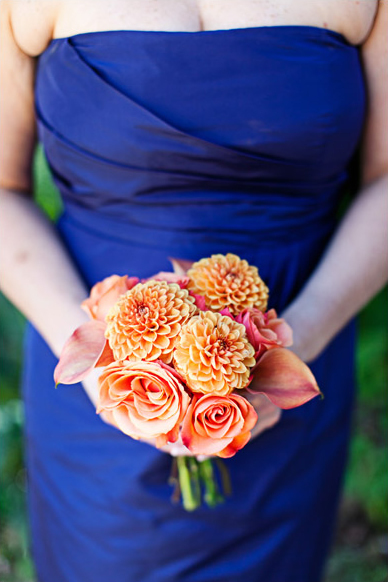 Dahlia and Rose Bouquet