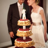 white, cake, Classic, Bride, Groom, Lace, Raspberry, Traditional, Lavender, Country