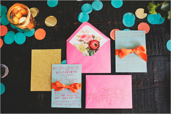 Colorful Wedding Invitation