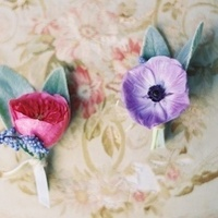 Rose and Anemone Boutonnieres