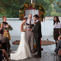 Romantic (and Rainy!) Ceremony