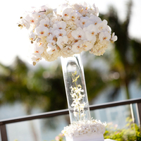 Orchid and Hydrangea Aisle Markers