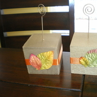 Fall Wedding Photo Cubes