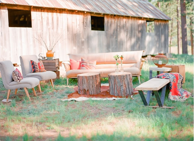 Flowers & Decor, Fall Wedding Flowers & Decor, Modern Wedding Flowers & Decor, Rustic Wedding Flowers & Decor, Summer Wedding Flowers & Decor, Peach, lounges, southwestern wedding flowers & decor