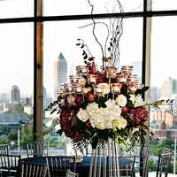 Flowers & Decor, Real Weddings, Wedding Style, white, red, Centerpieces, Tables & Seating, Modern Real Weddings, Southern Real Weddings, Spring Weddings, City Real Weddings, Spring Real Weddings, City Weddings, Modern Weddings, Modern Wedding Flowers & Decor, city wedding flowers & decor