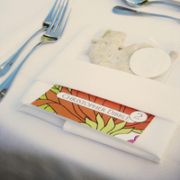 Colorful Place Card Setting