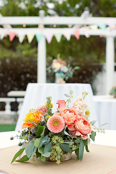 Flowers & Decor, Real Weddings, Wedding Style, pink, green, Centerpieces, Summer Weddings, West Coast Real Weddings, Summer Real Weddings, Summer Wedding Flowers & Decor