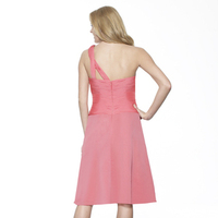 Bridesmaids Dresses, Fashion, pink, A-line, Tea, Chiffon, Sleeveless, Basque, Me Too! Bridesmaids