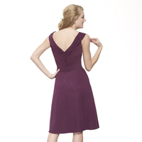 Bridesmaids Dresses, Fashion, burgundy, purple, A-line, V-neck, Short, Chiffon, Ruching, cap sleeve, Me Too! Bridesmaids