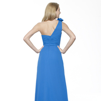 Bridesmaids Dresses, Fashion, blue, A-line, Chiffon, Ruching, One-shoulder, Sash/Belt, Me Too! Bridesmaids