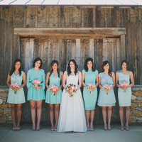 Bridesmaids Dresses, Fashion, Real Weddings, Wedding Style, blue, green, Rustic Real Weddings, Southern Real Weddings, Spring Weddings, Spring Real Weddings, Rustic Weddings, Teal