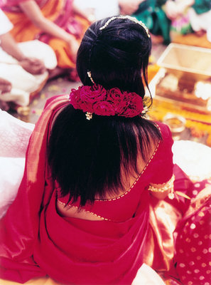 Beauty, Real Weddings, pink, red, Down, Straight Hair, Summer Real Weddings, indian real weddings, indian weddings