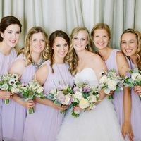 Purple Bridesmaid Dressees