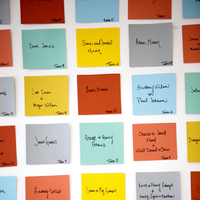 Post-It Escort Cards