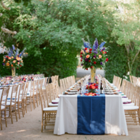 Bright Reception Tables at Vineyard