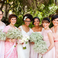 Bridesmaids with Baby's Breath