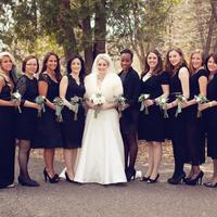Bridesmaids in Black