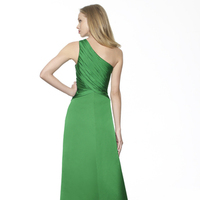 Bridesmaid Dresses, Fashion, green, A-line, Beading, Satin, Floor, Chiffon, Ruching, One-shoulder, Me Too! Bridesmaids