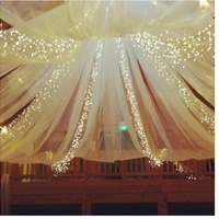 Great reception decoration idea!