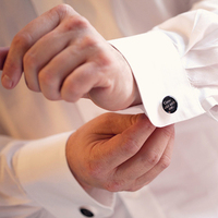 My husbands cuff links 'Grow old with Me, the Best is yet to be'