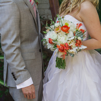 Lovely Orange and White Bouquet