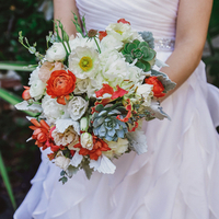 Ranunculus and Succulent Bouquet