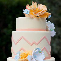 Modern Yellow Floral Cake