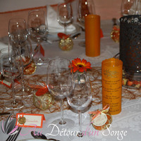 Wedding white, orange and gold