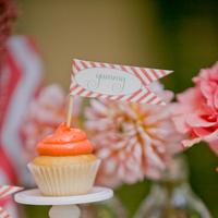 Mini Orange Icing Cupcakes