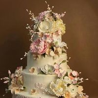 cake, Flowers, Tall, Wedding cake, tall wedding cake