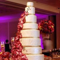 cake, Orchids, Tall, Wedding cake, tall wedding cake, tall cake