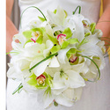 1382674555 thumb photo preview white green orchids bouquet