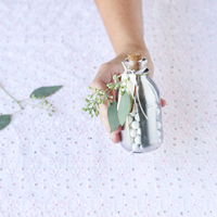 DIY: Mirrored Glass Favor Jars
