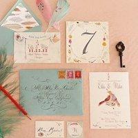 Bird Themed Wedding Invitation