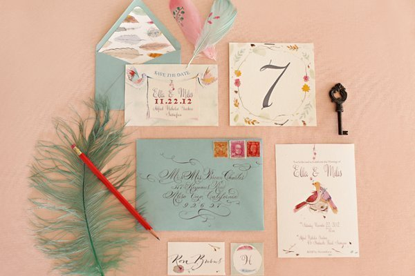 Bird Themed Wedding Invitation