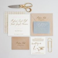 Modern Neutral Wedding Invitation