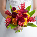 1382781646 thumb photo preview burgundy calla lilies burgundy mokara orchids and yellow roses wedding flowers bouquet 1024x1024