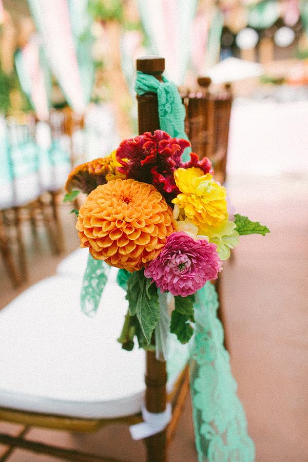 Floral Aisle Marker